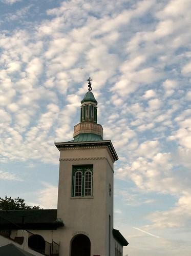Clouds over Playland Pavilion