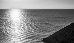 Solo (Jaime GF) Tags: sea bw cliff mar fisherman spain nikon asturias bn acantilado pescador gozn nieva d7000