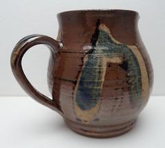 STUDIO POTTERY TENMOKU STONEWARE JUG (Marcusborra) Tags: art studio design pottery earthenware tenmoku