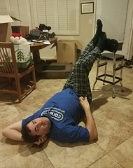 December 21, 2016 (365 Gay #238) (gaymay) Tags: california desert gay love palmsprings darek pose chair 365gay blue rainbowgame