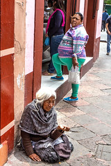 What contrast (klauslang99) Tags: streetphotography klauslang queretaro mexico people poverty beggar begging poor fat contrast