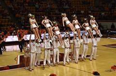 VA. TECH CHEERLEADERS (SneakinDeacon) Tags: vt vatech hokies virginiatech cassellcoliseum cheerleaders basketball hawks marylandeasternshore
