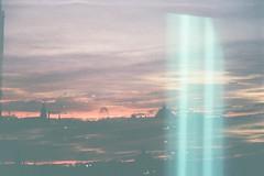 Morning Mind (AirSonka) Tags: smena smena8m lomo analog analogue toycamera película pellicule argentique film filmphotography 35mm multipleexposure multiple tripleexposure mehrfachbelichtung sky skyline dawn cottbus germany lightleak soniakaniss airsonka