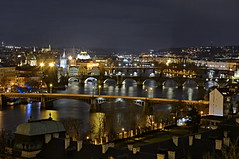 Prague bridges (HDR) (Mayer Martin) Tags: europe prague bridge charlesbridge vltava karlův most hdr view night nightfoto nightfototrip