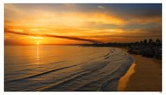 Comienza el día (1mrz) Tags: mar costa arena cielo amanecer playa caribe paisaje orange