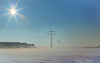 Energy (++sepp++) Tags: bayern deutschland landscape landschaft landschaftsfotografie lechfeld schnee winter bavaria germany länder snow bodennebel groundfog sonne sonnig neblig fog foggy logistikzentrum lidl logisticscenter gegenlicht backlight backlit januar january hochspannungsleitung highvoltagecable