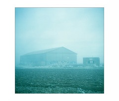 "(""Que la bête meure"") Tags: kiev6c vega12b fujicolorpro400h russiancamera 6x6 120 carré analog mf moyenformat manualfocus film focalefixe fog brouillard bâtimentagricole"