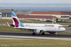 Eurowings A320-200 D-AEWE (birrlad) Tags: lisbon lis international airport portugal aircraft aviation airplane airplanes airline airliner airlines airways approach arrival arriving finals landing landed runway airbus a320 a320200 a320214 daewe eurowings sharklets