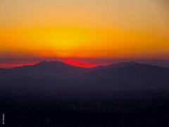 sunset (*paz) Tags: atardecer city sunset orange mountain santiago chile
