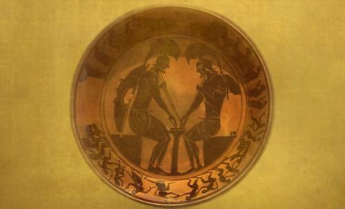 "Petteia - Ludus Latrunculorum  / Iconografía de las civilizaciones helenolatinas • <a style=""font-size:0.8em;"" href=""http://www.flickr.com/photos/30735181@N00/32522205165/"" target=""_blank"">View on Flickr</a>"
