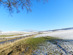 Snow in the countryside, near Milltown of Auchindoun, Morayshire, Jan 2017 (allanmaciver) Tags: auchindoun moray rural farmland countryside shadows white sunshine frozen allanmaciver