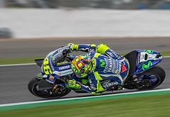 The Doctor at work. (bainebiker) Tags: valentinorossi motorcycleracing motorsport panning yamahayzrm1 motogp canonef100400mmf4556lis silverstone northamptonshire uk canonef100400mmf4556lisiiusm
