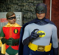 The Caped Crusaders (MiskatonicNick) Tags: robin toys 1966 66 batman 16 adamwest boywonder hottoys burtward sixthscale playscale