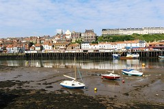 High and Dry (Stevie208) Tags: sea sky clouds reflections boats coast town whitby walls yorkshirecoast