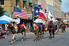 4th of July Parade (The Old Texan) Tags: horses flags parade independenceday