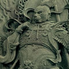 Temple sculpture, Taipei 072815 #temple #sculpture #Taipei #Taiwan #mythology #storytelling #art #jezevec (Badger 23 / jezevec) Tags: square roc taiwan squareformat formosa  kina  2015  republicofchina  instaart  republikken  tajwan  tchajwan   iloan  iphoneography republikchina thivn  taivna tavan   instagram instagramapp uploaded:by=instagram instataiwan