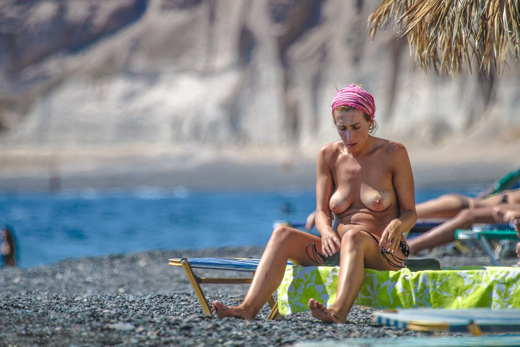 Nude beaches on santorini greece