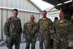 U.S. and Australian armed forces build camaraderie at Camp Baker, Kandahar Airfield, Aghanistan
