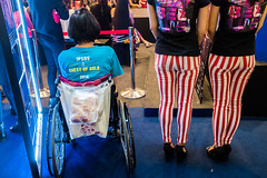 (AmirsCamera) Tags: show girls colour fashion shopping legs stripes style visit tourist event fujifilm pavilion kualalumpur bukitbintang 2015 x100s