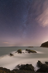 Milky Way from Fidalgo (CMWilhelm) Tags: fidalgo island anacortes milky way stars puget sound rocks waves long exposure clouds urchin sky washington state wwwstellariumorg stellarium