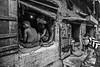 Calcutta - Restaurant populaire. (Gilles Daligand) Tags: calcutta kolkata inde restaurant ruelle populaire trash noiretblanc blackandwhite bw monochrome panasonic gf3