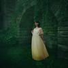 Seeking the unexplained (Deltalex.) Tags: alexbenetel conceptual conceptualphotography princess martina girl woman yellowdress dress vines wall castle fineartphotography fineart portrait italy nikond600 sigma35mm