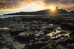 Dunstanburgh Castle Sunrise (Uillihans Dias) Tags: yellow dunstanburghcastle beach seascape landscape architecture historical sea sunrise day nikond7200 nikon1755mmf28gafsdxifedlens dx gb uk unitedkingdom
