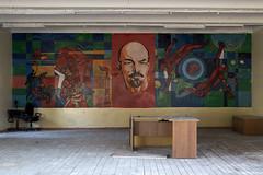 DSC06247 (I g o r ь) Tags: abandoned decay decayed rust urban forgotten lostplaces urbanexploration pioneers lenin ussr cccp sovietunion murals ленин communism sonya7 ilce7 cosmonaut space