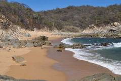 Conejos Beach (EvenCool) Tags: huatulco mexico conejos beach sand sandy rock rocks rocky pacific ocean water beautiful