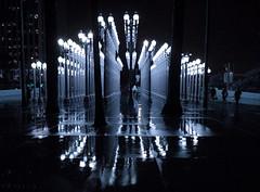 LACMA on a rainy evening (7844) (Ron of the Desert) Tags: lacma museum losangelescountymuseumofart night rain lights streetlights losangeles california