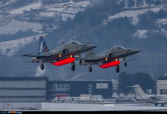 Sion Airport: Northrop F-5E Tiger II (Simone Ciaralli - AirTeamImages) Tags: sion switzerland aviation saimonvolo saimon simone ciaralli olympus zuiko avgeek swissairforce airteamimages