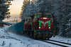 Freight train T58203 (ArtDvU) Tags: vr finnishrailways dv12 diesel locomotive freight train t58203 finland winter canon eos 7d mark ii