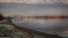 Runcorn Bridge (4 of 5) (andyyoung37) Tags: reflections runcorn runcornbridge stmaryschurch uk cheshire rivermersey sunrise england unitedkingdom gb