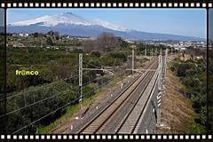 Binari (fr@nco ... 'ntraficatu friscu! (=indaffarato)) Tags: italia italy sicilia sicily binari panorama etna