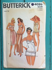 Butterick 4020 (kittee) Tags: kittee vintagesewing vintagepatterns nodate 1980s butterick buttrick4020 4020 size12 bust34 misses camisole tappants shorts bodysuit romper slip halfslip lingerie underpinnings sleepwear sewing sewingpattern vintage pattern