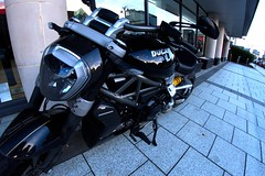 Ducati (Tyrone Williams) Tags: cardiff samyang8mm 8mm canon canon7d street wideangle architecture people insight shoppers capital wales 2017 winter