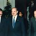 El presidente de Guatemala, Jorge Serrano Elías con Miguel Arias, director general de la Casa de América y José Mª Álvarez del Manzano, alcalde de Madrid. (1992)