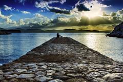 Il pontile (Sascha Fiori) Tags: pontile porto mare acqua sole cielo nuvole alghero sardegna relax
