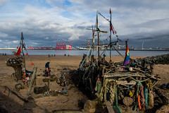 Black Pearl (The Crewe Chronicler) Tags: liverpool mersey rivermersey liverpool2 blackpearl theblackpearl driftwood pirates pirateship beach sand sea seafront canon canon7dmarkii wirral thewirral newbrighton