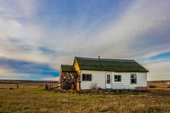 Odd Stone House, Valley County, Montana (OpenSpaces PrairiePlaces) Tags: valleycounty prairie abandoned house home stone stonebuilding empty farm sky montana