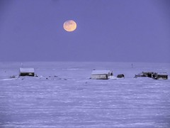 IMG_0859s (savillent) Tags: moon lunar penumbral earth shadow landscape sky snow ice arctic north climate photography canon point shoot camera tuktoyaktuk northwest territories canada astrology february 2017