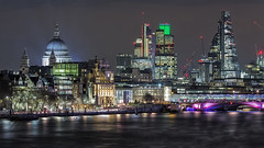 London Skyline (Perez Alonso Photography) Tags: london skyline night nightscapes stpaulscathedral city thames river