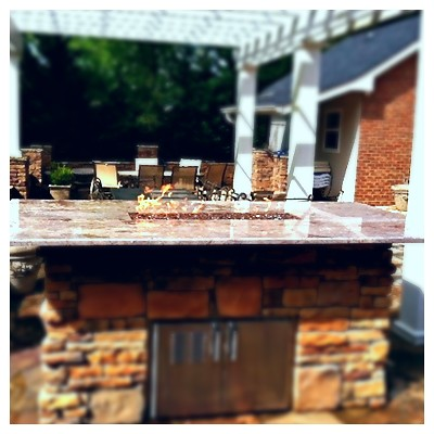 Custom Linear Fire Table. Harrison, Tn.