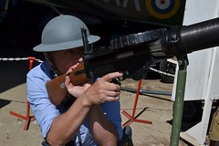 2015-05-16: Guns At The Ready (psyxjaw) Tags: cars car race vintage racing surrey clothes 1940s planes circuit forties fayre brooklands relived fortiesrelived
