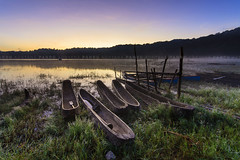 Resting Boats (Pandu Adnyana Photography Tour) Tags: travel bali lake sunrise indonesia tour guide bedugul tamblingan balitravelphotography baliphotographytour baliphotographyguide