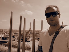 Ontop of Arc de Triumph with The best views in Paris!