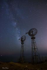 Calblanque (Fran Ramos.) Tags: naturaleza canon noche via nocturnas cartagena molinos esferas lactea calblanque