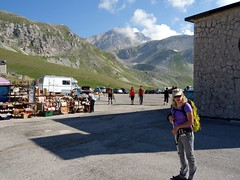 "Edita about to leave from the hotel at Campo Imperatore • <a style=""font-size:0.8em;"" href=""http://www.flickr.com/photos/41849531@N04/19125827384/"" target=""_blank"">View on Flickr</a>"