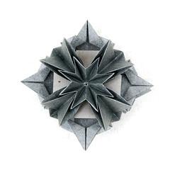 Patricia Flower (_Ekaterina) Tags: paper grey origami paperfolding modularorigami kusudama unitorigami ekaterinalukasheva