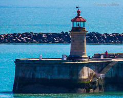 Harbour Lighthouse (JKmedia) Tags: old uk red sea summer lighthouse stone wall coast kent harbour coastal manmade breakwater ramsgate canoneos5dmkiii boultonphotography